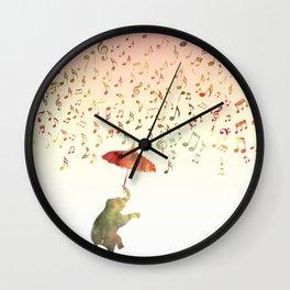 Dancing with Musical Rain Wall Clock