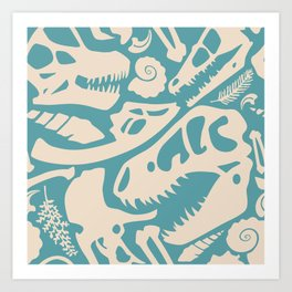 Fossil Pattern Art Print
