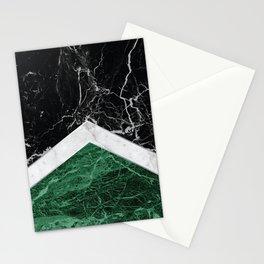 Arrows - Black Granite, White Marble & Green Granite #412 Stationery Cards