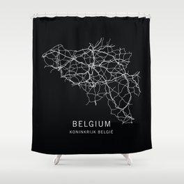 Belgium Road Map  Shower Curtain