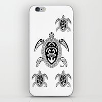 tortoise iPhone & iPod Skins featuring Tortoise by ceceï