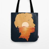 Tote Bags featuring Caved In by Davies Babies