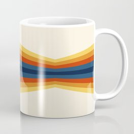 Bright 70's Retro Stripes Reflection Coffee Mug
