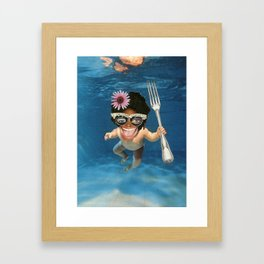Fear the Trident Framed Art Print