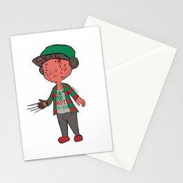 Horror Hipsters - Freddy Krueger Stationery Cards