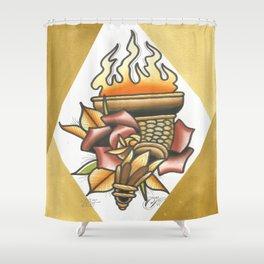 Torch Shower Curtain