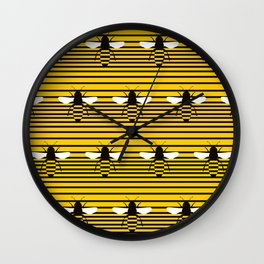 bees pentagram Wall Clock