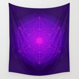 Metatron | Cube | Secret Geometry | Platonic | Matrix | Protects children Wall Tapestry
