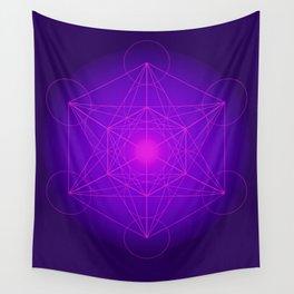 Metatron   Cube   Secret Geometry   Platonic   Matrix   Protects children Wall Tapestry