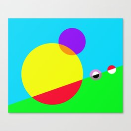 Circles #1 Abstract Modern Painting by Bruce Gray Canvas Print