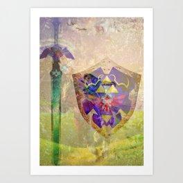 Ocarina of time composition Art Print
