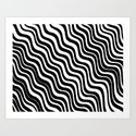 Black and White Modern Sleek Bold Minimal Minimalistic Design Pattern Hand Drawn Swirl Lines by aej_design