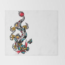 American traditional dragon Throw Blanket