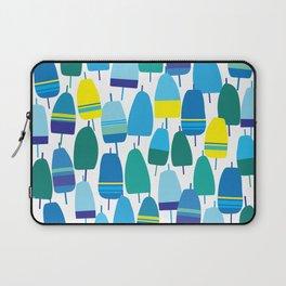 Blue Lobster Buoy Pattern Laptop Sleeve