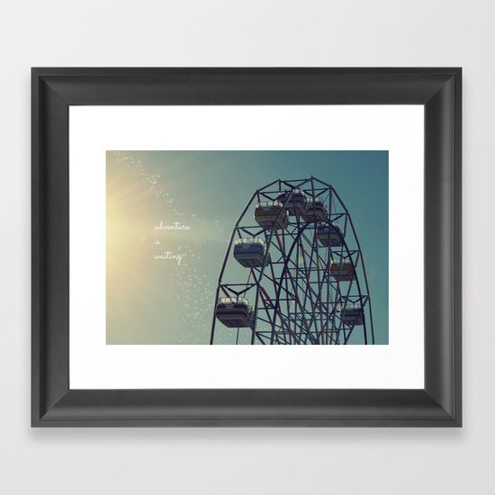 Adventure is Waiting Framed Art Print
