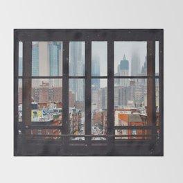 New York City Window Throw Blanket
