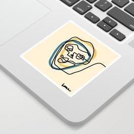 Blue Face Sticker