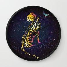 Space Leopard Wall Clock