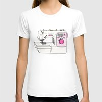 sewing T-shirts featuring My Sewing Machine by The Wellington Boot