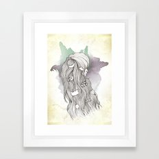 Weather Lady Framed Art Print