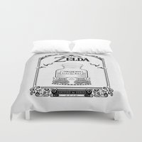 majora Duvet Covers featuring Zelda legend - Lon Lon Milk by Art & Be