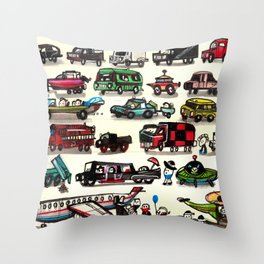 On Our Way. Throw Pillow