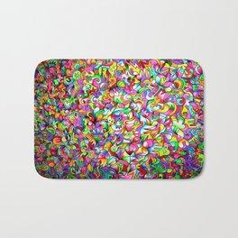 Abstract multicoloured pattern Bath Mat