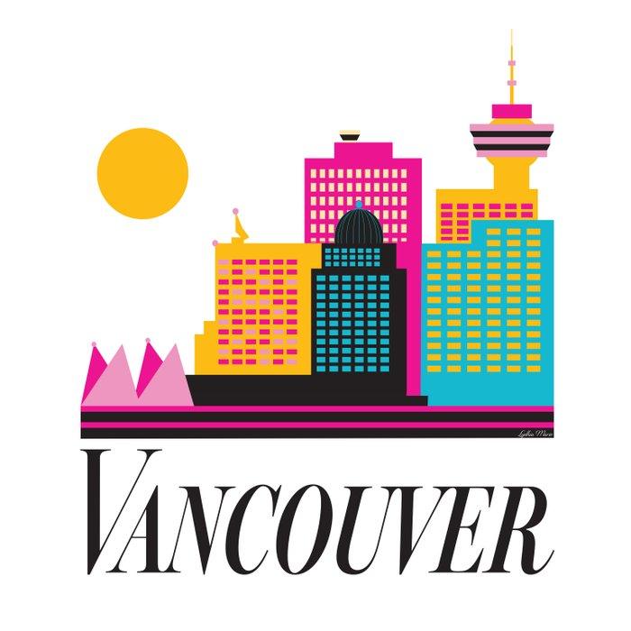 Vancouver Coal Harbour Duvet Cover