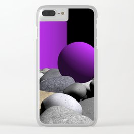 pink or violet -9- Clear iPhone Case