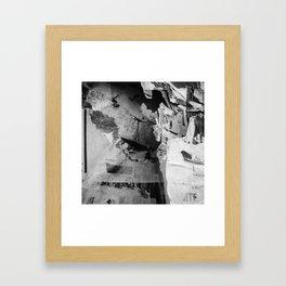 Paper man Framed Art Print