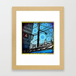 Blue Star Framed Art Print
