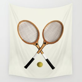 Vintage Tennis Rackets and tennis ball   Wall Tapestry