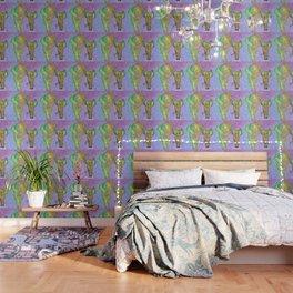 Colored elephants Wallpaper
