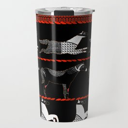 Horses and Lines Travel Mug