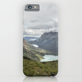 Three Lakes Viewed from Grinnell Glacier iPhone Case