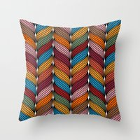 hipster Throw Pillows featuring Hipster by Rceeh