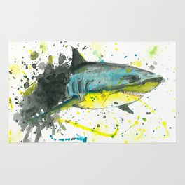 Shark - Watercolor Painting Rug
