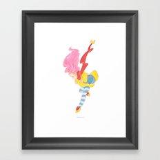 jump jump jump! jumping down! Framed Art Print