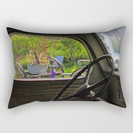 Window in Time Rectangular Pillow