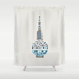 Berlin TV Tower Shower Curtain