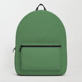 Solid green conifers. Backpack