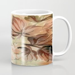 Peachy Floral Abstract Coffee Mug