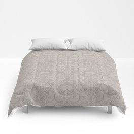 Latte Vertical Lace Comforters