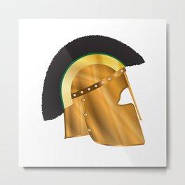 Roman Gladiator Helmet Metal Print