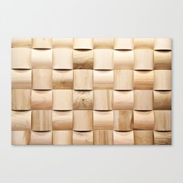 Background of wooden pieces Canvas Print