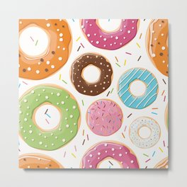 Donut pattern 005 Metal Print