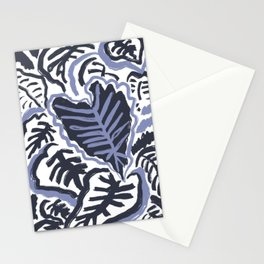 abstract leaf print Stationery Cards