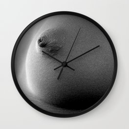 Simple Nipple Black & White Wall Clock