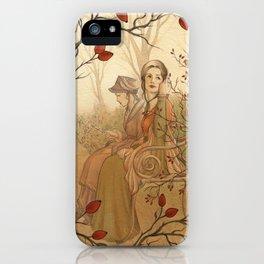 Jane Austen, Mansfield Park - the Garden iPhone Case