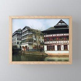 Fachwerk architecture Framed Mini Art Print